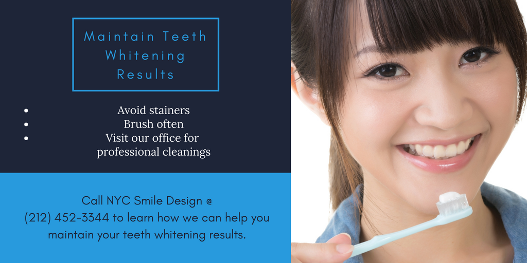 Keeping Teeth White After Bleaching | NYC
