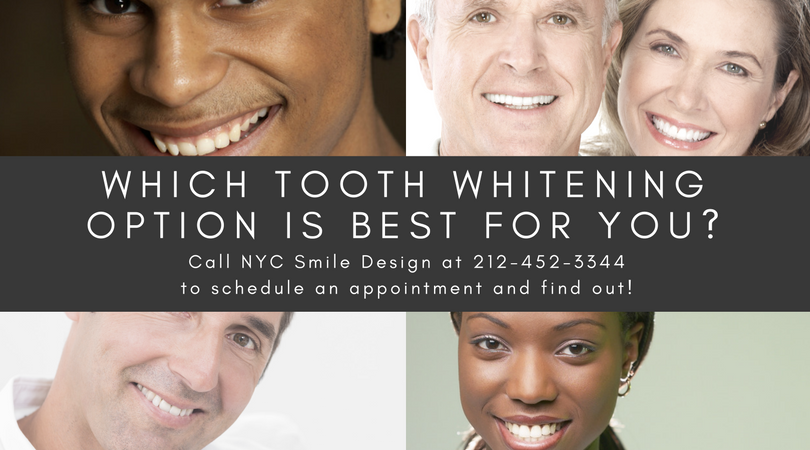 Contact the experienced cosmetic dentists at NYC Smile Design to learn how we can help you whiten and brighten your smile in the safest and most effective ways available